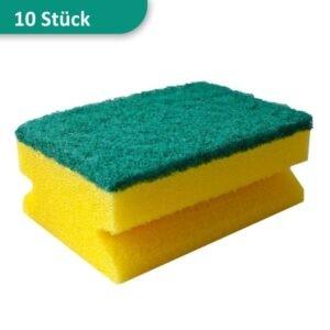 Scheuerschwamm Topfschwamm gelb-grün