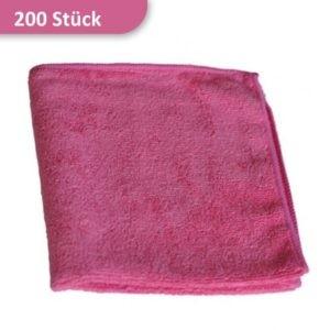 Mikrofasertuch Reinigungstuch rot