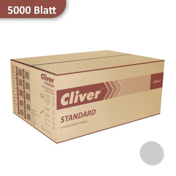 Karton Papierhandtücher grau Cliver von Lamix