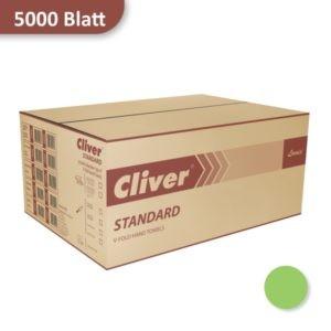 Karton Papierhandtücher grün Cliver von Lamix