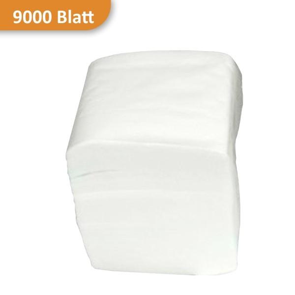 Packung Toilettenpapier Einzelblatt Zellstoff