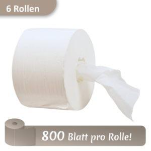 Rolle Toilettenpapier mit 800 Blatt