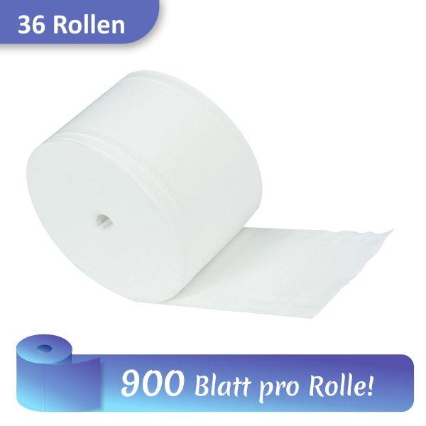 Rolle Toilettenpapier mit 900 Blatt