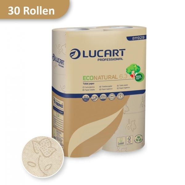 Toilettenpapier LUCART Eco Natural 6.3 Recycling