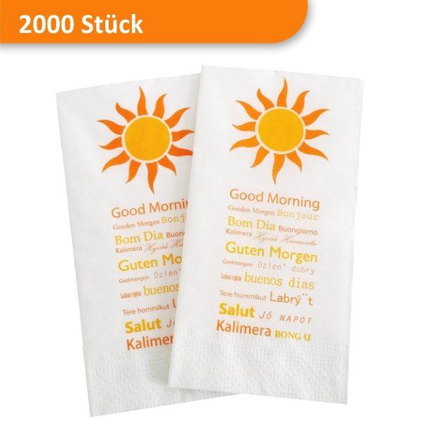 Servietten mit Motiv Sonne Guten Morgen