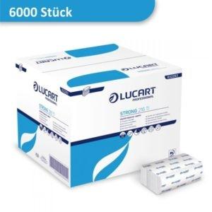 Karton mit Spenderservietten weiß von Lucart