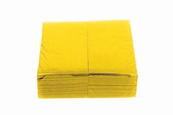 gelbe Servietten, 2-lagig, 33x33 cm, 1/8 Falz