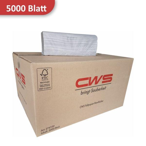 Karton Papierhandtücher Recyclingpapier von CWS