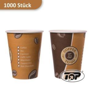 Kaffeebecher aus Pappe / Coffee to go Becher 300 ml beige/braun