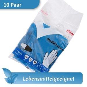 Gummihandschuhe / Mehrweghandschuhe / Haushaltshandschuhe VILEDA MultiPurpose blau lebensmittelecht