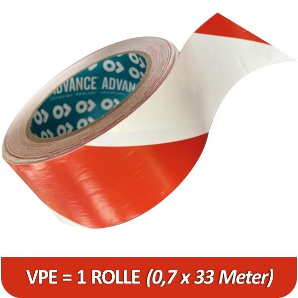 Rolle Markierband 3M 767i für Bodenmarkierung in rot-weiß