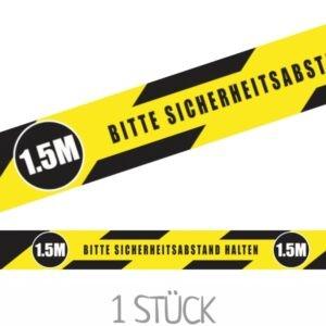 Spada Markierungsband gelb-schwarz - Bodenmarkierung für Sicherheitsabstand