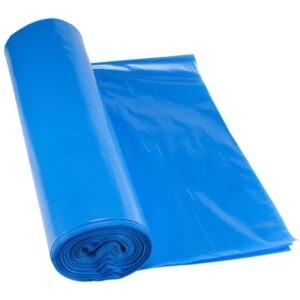 Blauer Müllsack 120 Liter aus LDPE in 45 my Stärke