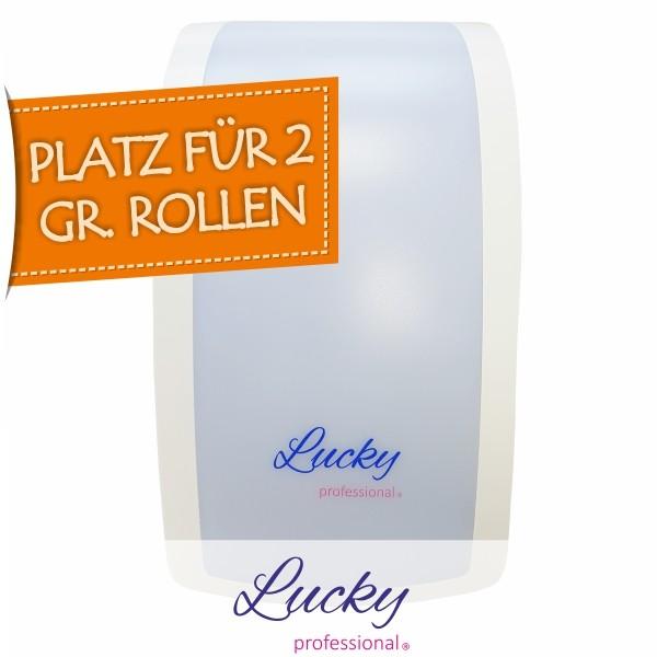 Toilettenpapierspender LUCKY professional mit Plat für zwei große Rollen